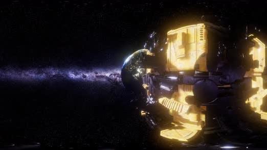 Big Alien Mothership. VR 360 Virtual Reality