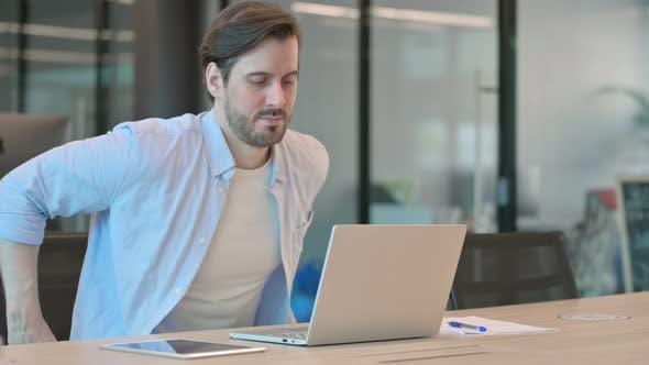 Man Coming Using Laptop