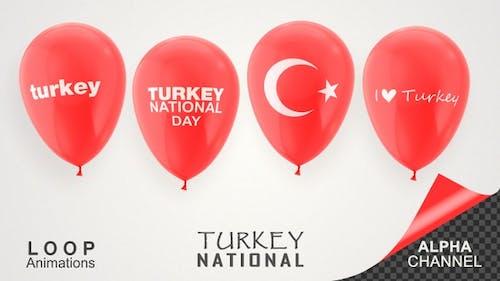 Turkey National Day Celebration Balloons