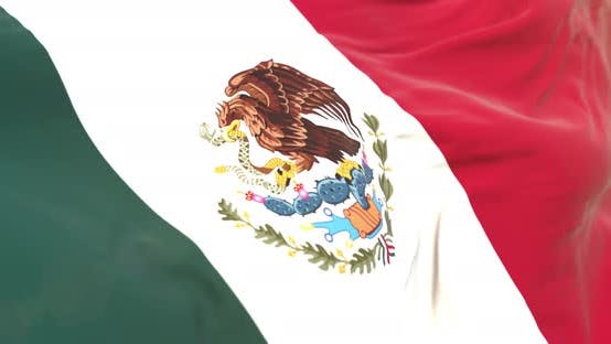 Thumbnail for Realistic Mexico Flag Close Up 4K Loop