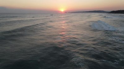 Sunrise Sea Aerial View
