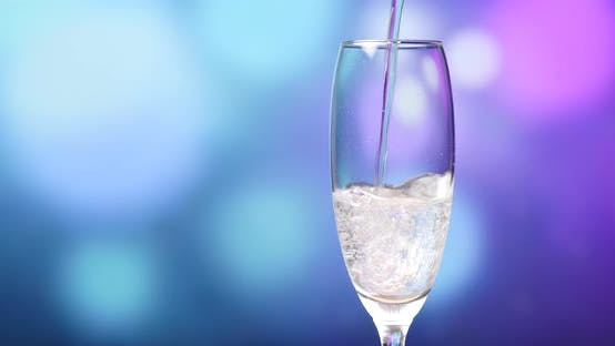 Thumbnail for Sparkling Champagne over holiday background