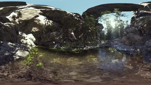 Thumbnail for VR360 Bamboo Grove Near a Small Quiet Pond