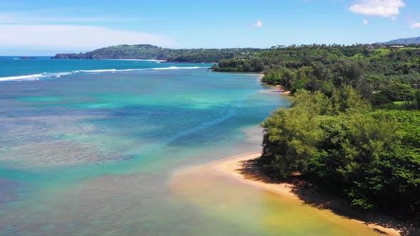Birds Eye View Of Kauai Hawaii Coastline