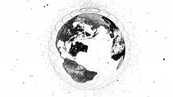 Techy black and white earth