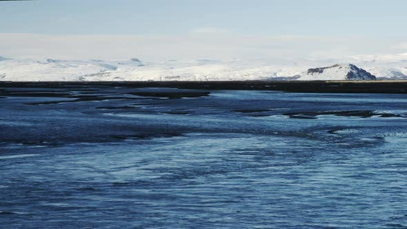 Thumbnail for Snow Covered Mountains of Iceland from the Lagoon