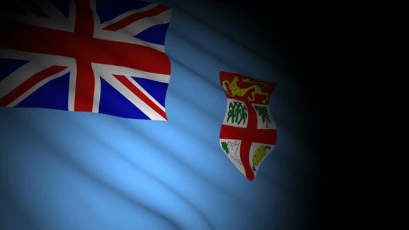 Fiji Flag Blowing in Wind