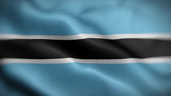Thumbnail for Botswana Flag Textured Waving Front Background HD
