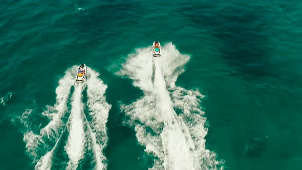 Thumbnail for Tourists on a Jet Skis on a Tropical Resort. Boracay, Philippines