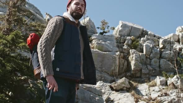 Thumbnail for Young Man with Beard Hiking