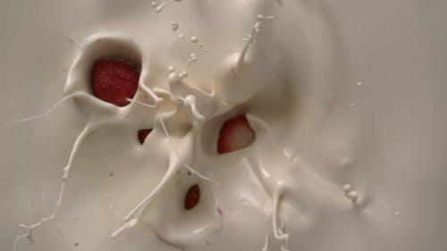 Splashing Milk Cream Food