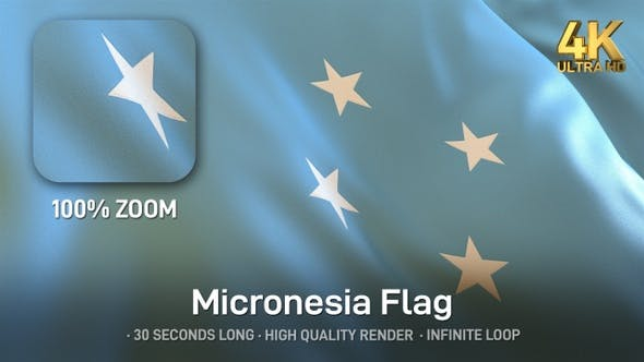Thumbnail for Micronesia Flag - 4K
