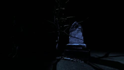 Dark Night and Old Cemetery