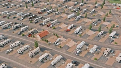 Camping with RV Trailer on Resort Parking Camping Park