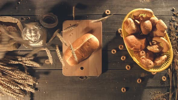 Thumbnail for Bakery, Wheat and Flour on Old Table.