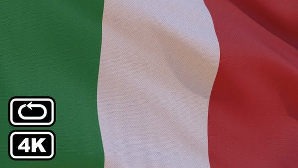 Thumbnail for Italy Flag 4K Seamless Loop