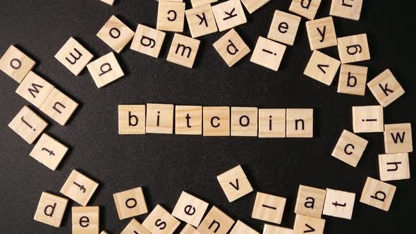 Many Letters Set up A Word «Bitcoin""