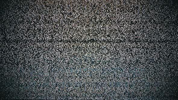 Thumbnail for Echter Analog-TV Noize. TV ohne Signal, weißes Rauschen