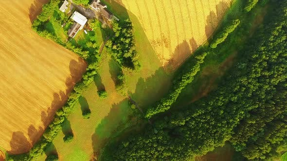 Thumbnail for Countryside in Germany from aerial perspective