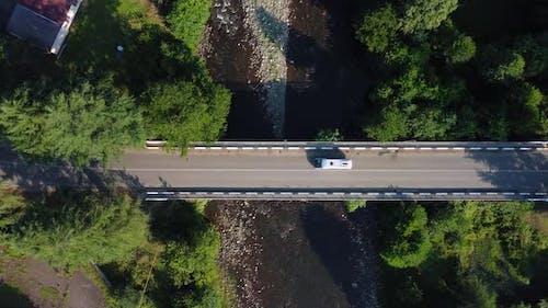 Cars Motion On The Bridge