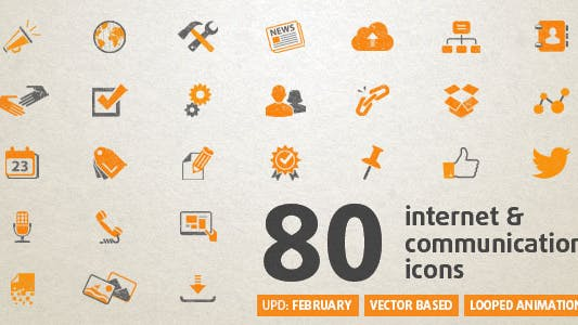 Thumbnail for 80 Animated Internet Icons