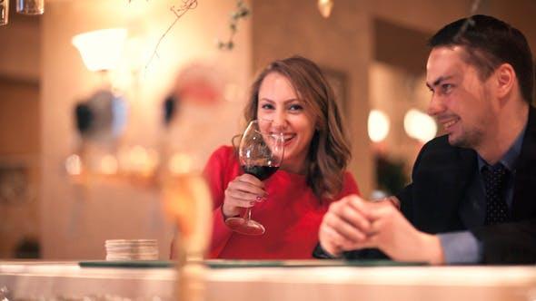 Thumbnail for Man and Woman at the Bar Counter