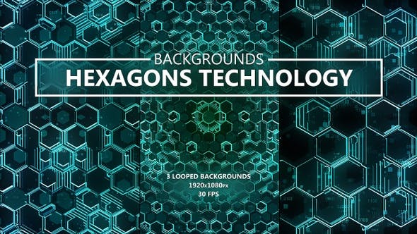 Thumbnail for Hexagons Technology Backgrounds