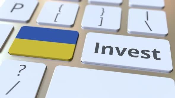 Thumbnail for INVEST Text and Flag of Ukraine on the Buttons on the Keyboard