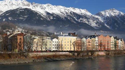 Colourful Houses on Mariahilf Street, Innsbruck, Austria
