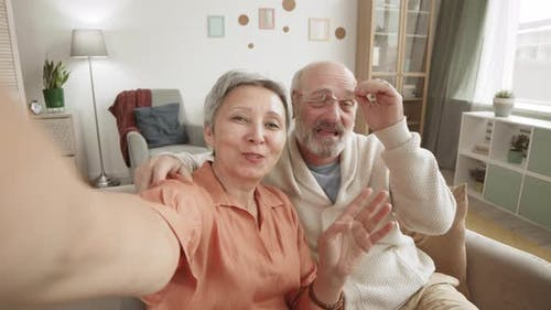 Grandparents Having Video Call with Grandchildren