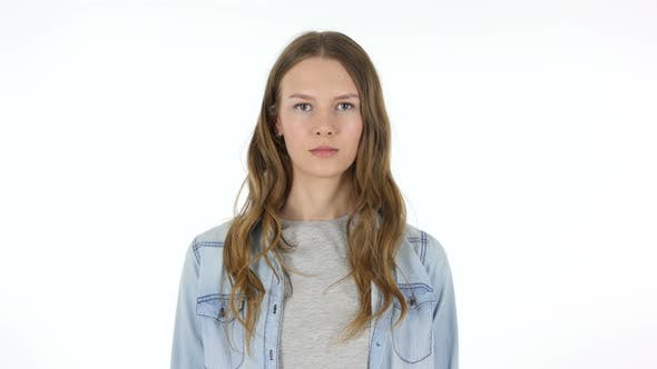 Cover Image for Portrait of Young Woman, White Background