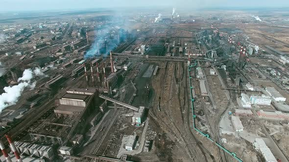 Thumbnail for Industrial Area with Working Power Plants