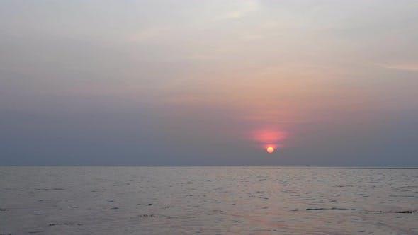 Thumbnail for Orange Sunset on Sea Water Surface
