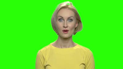 Portrait of Crazy Woman Slap Face