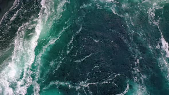 Thumbnail for Waves of Water of the River and the Sea Meet Each Other