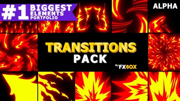 Thumbnail for Fire Transitions | Motion Graphics Pack