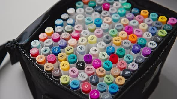 Set of Colourful and Bright Professional Markers
