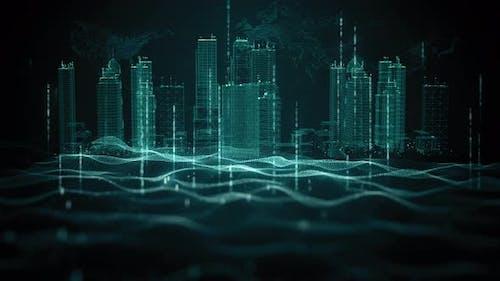 City Digital Data Wave