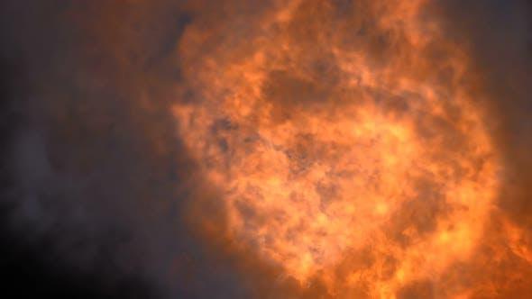 Dense Burn With Smoke Transition