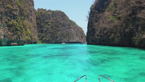 Thumbnail for First-person View of a Boat in a Colorful Thai on a Meadow in Phi Phi