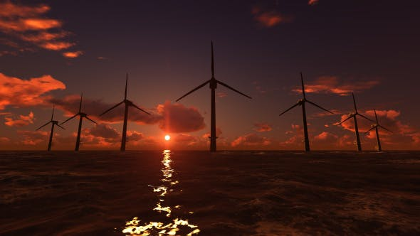 Thumbnail for Offshore Wind Farm Sunset