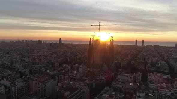 Thumbnail for Sunset in Barcelona, Spain