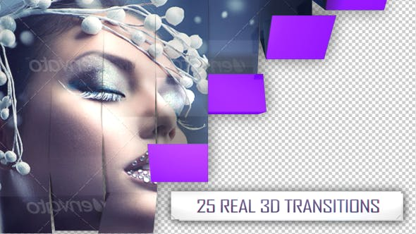 Thumbnail for 25 3D Transitions Pack