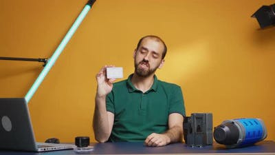 Videographer Reviewing Mini Led Led