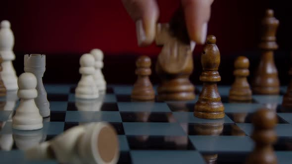 Thumbnail for Hand Moving Chess Knight In A Chess Game 46