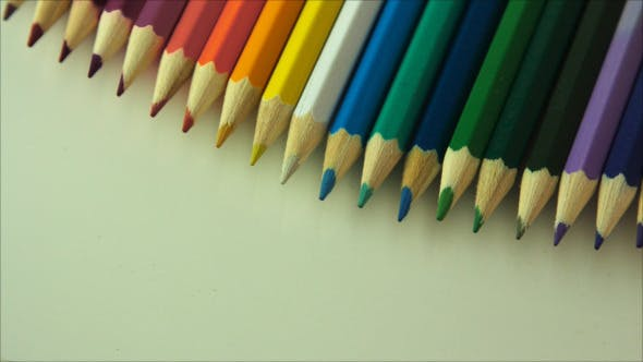 Thumbnail for Row of Colored Pencils