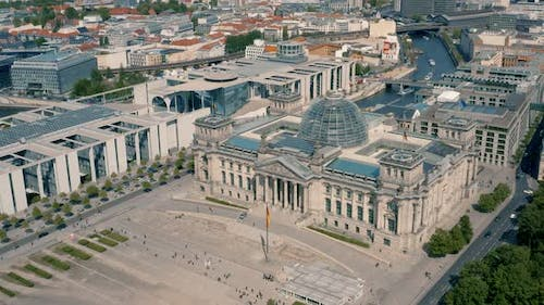 Aerial View of Reichstag Building