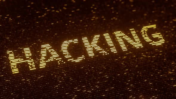Thumbnail for HACKING Word Made with Flying Particles