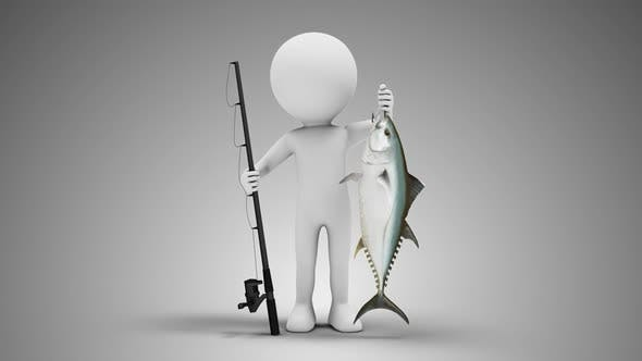 Cover Image for 3D Man Fisherman Loop with Alpha