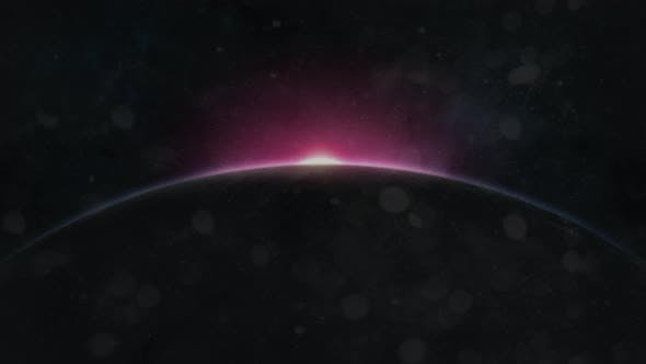 Thumbnail for Male Eye Zoom to Earth Sunrise